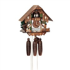 """12.5"""" 8-Day Movement Cuckoo Clock with Tudor Style House"""