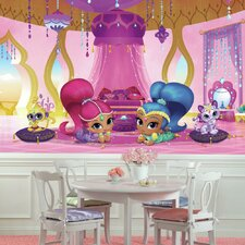 Shimmer and Shine Genie Palace XL Chair Rail Prepasted Wall Mural