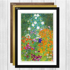 'Flower Garden' by Gustav Klimt Framed Painting Print
