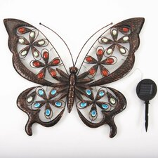Large Solar Butterfly Wall Décor