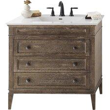 "Laurel 30"" Bathroom Vanity Cabinet Base in Vintage Café"