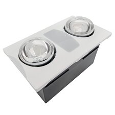 80 CFM Bathroom Fan with Heater and Light