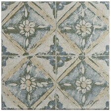 "Shale 12.75"" X 12.75"" Ceramic Patterned/Field Tile in Green/Beige"