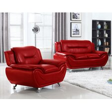 Sophie Arm Chair and Loveseat Set  by Living In Style