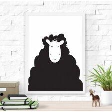 Cute Sheep Paper Print