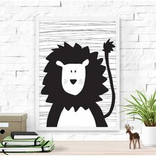 Cute Lion Paper Print