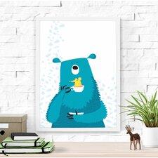 Cute Bear and Mouse Framed Art