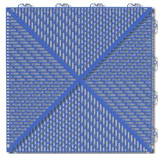 "Bergo Soft Antimicrobial Polyethylene 14.88"" x 14.88"" Loose Lay/Interlocking Deck Tiles in Steel Blue (Set of 16)"