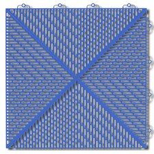 "Bergo Soft Antimicrobial Polyethylene 14.88"" x 14.88"" Loose Lay/Interlocking Deck Tiles in Light Blue (Set of 35)"