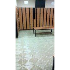 "Bergo Soft Antimicrobial Polyethylene 14.88"" x 14.88"" Loose Lay/Interlocking Deck Tiles in Shadow Gray"