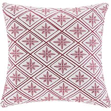 Cherry Blossom Geometric Throw Pillow