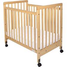 Sawyer Compact Size Slatted Crib with Mattress
