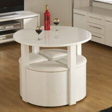Cherry Dining Set with 4 Chairs
