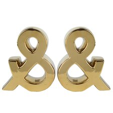 Ampersand Bookend (Set of 2)