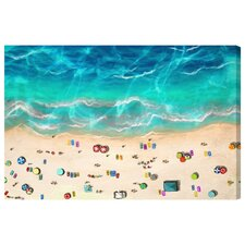 A Day at the Beach Graphic Art on Canvas