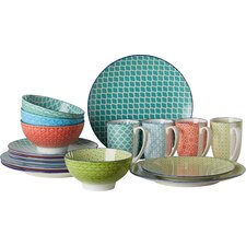Mediterran 16 Piece Dinnerware Set