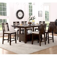 nika 7 piece counter height dining set - Dining Room Table Height