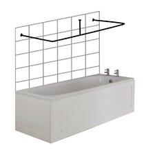 Premier 200cm U-Shaped Fixed Shower Curtain Rail