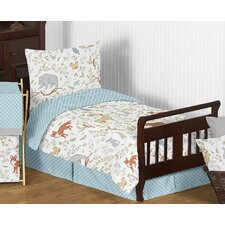 Woodland Toile 5 Piece Toddler Bedding Set