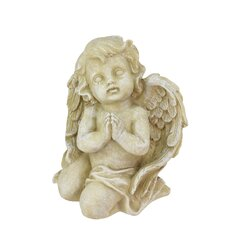 Heavenly Gardens Praying Cherub Angel Outdoor Patio Garden Statue
