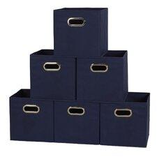 Fabric Storage Box Cube Set (Set of 6)