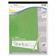 Academie Sketch Pad, 9 x 12, White, 50 Sheets (Set of 2)