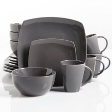 Rue Glossy 16 Piece Dinnerware Set, Service for 4