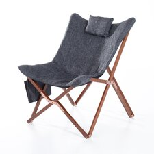 Folding Chair with Pillow and Storage Pocket