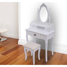 Antique Dressing Table Set with Mirror