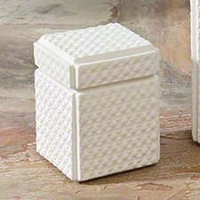 White Ceramic Decorative Box