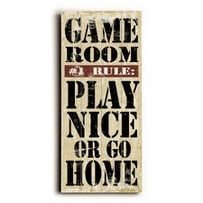 Game Room Rules Wall Décor