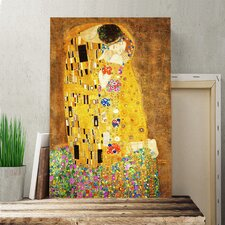 'The Kiss No.1' by Gustav Klimt Painting Print on Canvas