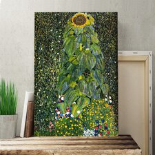 'The Sunflower' by Gustav Klimt Painting Print on Canvas