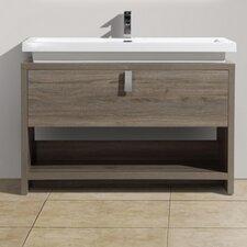 """Levi 39.5"""" Single Modern Bathroom Vanity Set"""