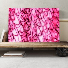 Pink Abstract Graphic Art on Canvas