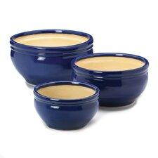 3 Piece Ceramic Pot Planter Set