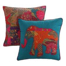 Jewel 2 Piece Cotton Throw Pillow Set (Set of 2)