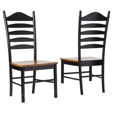 Madison Park Ladderback Solid Wood Dining Chair (Set of 2)