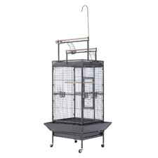 Metal Bird Cage with Castors