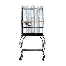 Large Metal Station Open Top Bird Cage with Castors