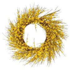 Faux Forsythia Wreath