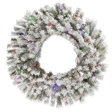 Flocked London Wreath