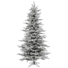 10' Flocked Slim Sierra Artificial Christmas Tree with Stand
