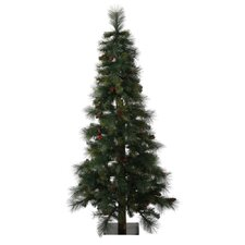 6' Mixed Pine Berry Alpine Artificial Christmas Tree