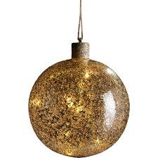 Chunky Glass Lighted Ball Ornament