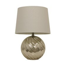 "Cambell Mercury Swirl Glass 21"" Table Lamp"
