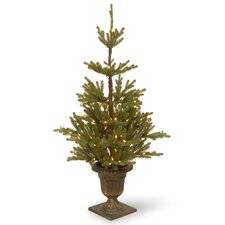 Imperial 4.5' Green Spruce Artificial Christmas Tree with 100 Clear Lights