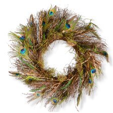 "28"" Peacock Wreath"