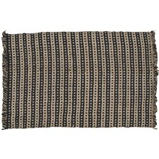 Basketweave Hand-Woven Tan/Black Area Rug