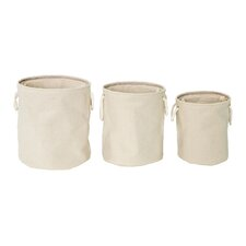 3 Piece Round Folding Storage Laundry Set